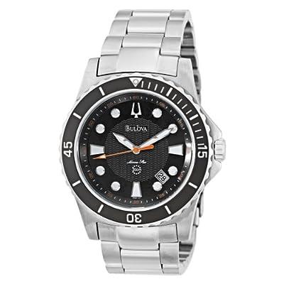 Bulova Men's 98B131 Marine Star Black Dial Bracelet Watch from Bulova