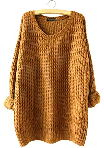 wmcywell-womens-casual-oversized-crew-neck-pullover-sweater-knitwear-tops-one-size-khaki