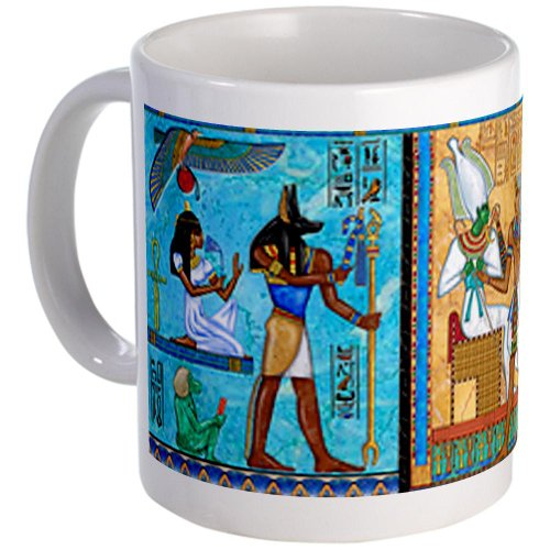 Cafepress Egyptian Gold/Turquoise Mug - S White