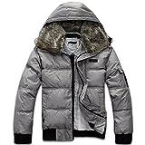 (サンクタス)SANCTUS メンズ 中綿ジャケット マウンテンパーカ ジャケット スノー ジャケット ウインドブレーカー 防寒 コート (01シルバー XL)