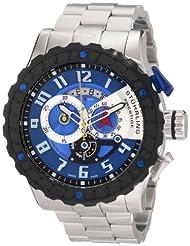 Stuhrling Prestige Men's 329.33116 Swiss Made Limited Edition Dreadnought Quartz Chronograph Blue Watch
