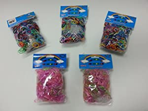 Colorful Silicone Loom Bands-3000 Bands & 125 S Clips
