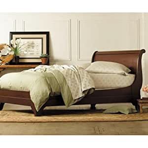 stratford mahogany sleigh bed by charles p rogers king bed open footboard. Black Bedroom Furniture Sets. Home Design Ideas
