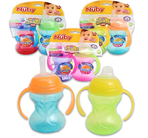 Nuby No-Spill Combo Pack Sippy Cups - Colors May Vary - 1