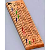 Wooden Three Track Cribbage Board