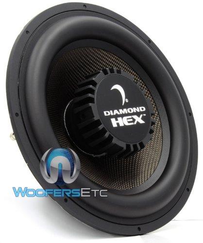 "S 12.4 - Diamond Audio 12"" 250W Rms 4-Ohm Hex Subwoofer"
