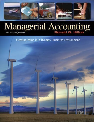 solution to managerial accounting ronald w hilton seventh edition