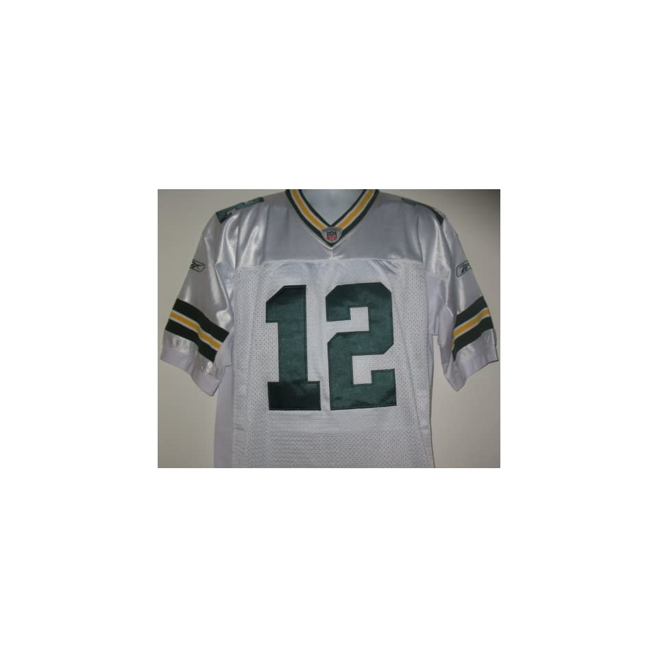 Aaron Rodgers  12 Green Bay Packers Jersey White Size 52 (X Large ... 4392918cc