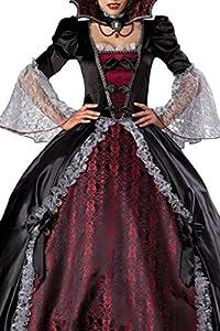 Dear-Lover Women's Splendid Vampire Dress Halloween Costume One Size Multicoloured