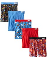 Fruit of the Loom Little Boys' Boxer Brief, Pack of Five