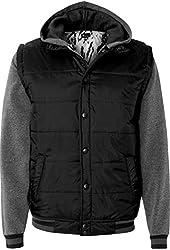 Burnside Nylon Vest with Fleece Sleeves.B8701