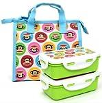 Paul Frank Green Lunch Box Bento Set...