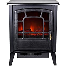 Frigidaire RSF-10324 Bern Retro Style Floor Standing Electric Fireplace - Black by Frigidaire