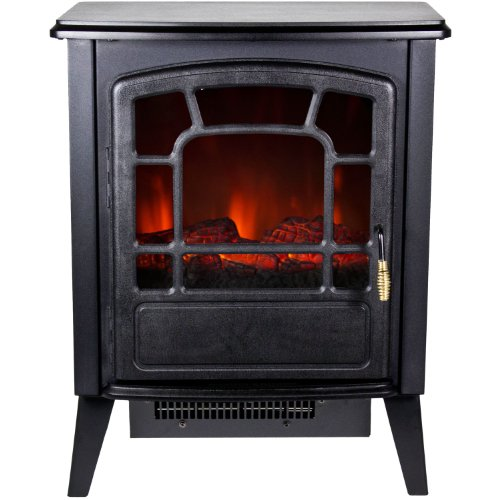 Frigidaire RSF-10324 Bern Retro Style Floor Standing Electric Fireplace - Black image B00DQRYYIS.jpg
