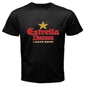 Amazon.com: Estrella Damm Beer Logo New Black T-shirt Size