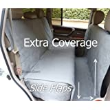 """Deluxe Quilted and Padded seat cover with Non-Slip Fabric in Seat Area for Pets - One Size Fits All 56""""Wx94""""L Grey"""