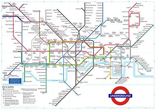 affiche-poster-plan-du-metro-londres-couleur-livre-a-plat-40x30-cms