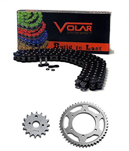 2008-2012 Kawasaki EX250 Ninja 250R Chain and Sprocket Kit - Heavy Duty - Black