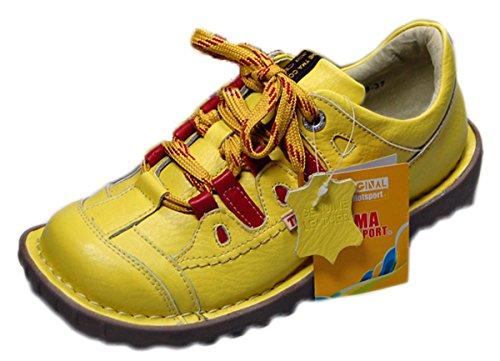 Damen Leder Schuhe von TMA EYES in Gelb Sport Schuh echt Leder Halb schuhe Gr. 37