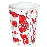 8 Vasos Halloween ensangrentados - �nica