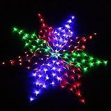 US 110V Colorful 160 LED Net Light Christmas Party Wedding