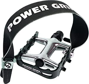 Power Grips High Performance Pre-Assembled Strap/Pedal Kit, Black