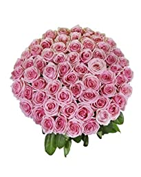 50 Royal Farm Fresh Pink Roses By justFreshRoses