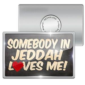 Amazon.com: Fridge Magnet Somebody in Jeddah Loves me, Saudi