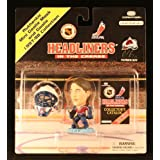 "PATRICK ROY / COLORADO AVALANCHE 1997-98 NHLPA Headliners In The Crease 3"" Mini Goalie & Goalie Mask * NHL * ~ Headliners"