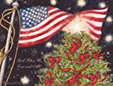 Perfect Timing - Lang A Patriotic Christmas Boxed Christmas Card, 5.38 x 6.88 Inches, 18 cards with 19 envelopes (1004690)