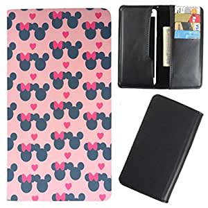 DooDa - For Lava Iris Fuel 50 PU Leather Designer Fashionable Fancy Case Cover Pouch With Card & Cash Slots & Smooth Inner Velvet