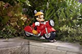 Decorative Home Garden Decor Rock Statue - 10 DISNEY MICKEY MOUSE MOTORCYCLE with SOLAR HEADLIGHT- Motorcyclist Enthusiast Collector's Item - Landscape Cute Designed Outdoor Front yard Backyard Patio Deck Porch Stone-Character Themed-Beautiful Way to add accent to your Walkway or deck railing-Made of DURABLE & Resistant Material