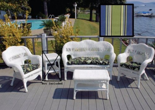 Best Price White Sahara Patio Set   Hampton Bay Summer Cushions (White / Hampton  Bay