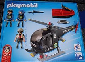Playmobil 5764 Police Helicopter with Jetski