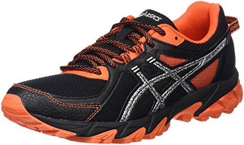 Asics Gel-Sonoma 2 - Scarpe da Trail Running Uomo, Nero (Black/Silver/Flame Orange), 42.5