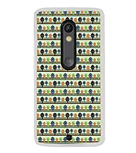 ifasho Animated Pattern colrful tribal design with small trees Back Case Cover for Moto G3