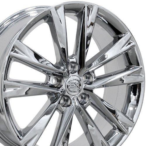 19-inch Fits Lexus - RX350 F Sport Aftermarket Wheels - PVD Chrome 19x7.5 - Set of 4 (Lexus Is300 Rims Set compare prices)