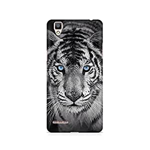 Mobicture Tiger Black n White Premium Printed Case For Oppo F1 plus