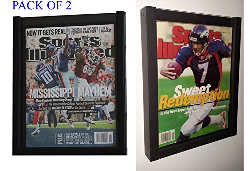 DisplayGifts PACK of 2 Magazine Display Cases Frames for CURRENT Sports Illustrated or Comic Book BH02-Q2 (Display Case For Magazine compare prices)