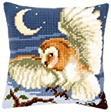 Chasing Owl Cushion Front Chunky Cross Stitch Kit