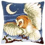 Chasing Owl Cushion Front Chunky Cross Stitch Kit