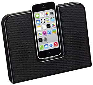 KitSound Impulse Speaker Dock with Lightning Connector for iPhone 5/5S/5C, iPod Nano 7th Generation/iPod Touch 5th Generation - Black