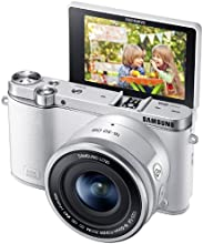 Samsung NX3000 Wireless Smart 20.3MP Compact System Camera with 16-50mm OIS Power Zoom Lens and Flash (White)