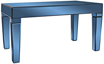 Howard Elliott 11175 Dorset Mirrored Coffee Table, Cobalt Blue