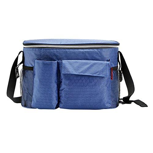 TANG imp Insulated Termica Borsa Del Pranzo Picnic Borse Porta Alimenti Tessuto Oxford Pranzo Tote Sacco Bento Stoccaggio Lunchbox Pouch Blu
