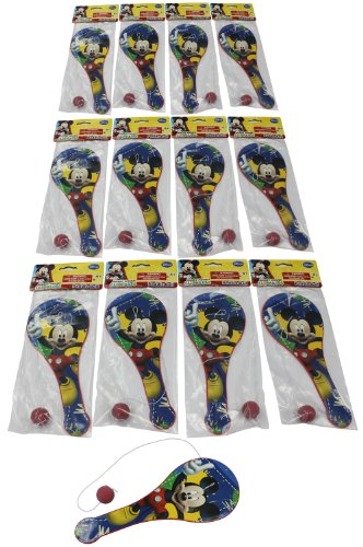 What Kids Want Licensed Mickey Paddle Balls, 12-Pack