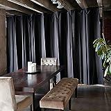 RoomDividersNow Muslin Freestanding Room Divider Kit - Medium B, 9ft Tall x 12ft 6in - 25ft Wide (Black)