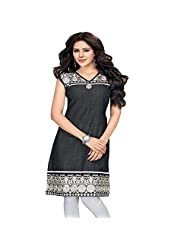 Dolphins Women's Georgette Sequined Long Sleeve Straight Kurti - B01127ZHQG