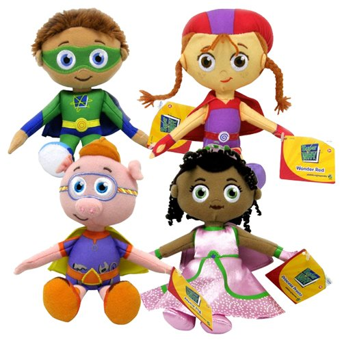 "Amazon.com: Super Why PBS Kids 8"" Plush Toy Dolls Set Of 4"
