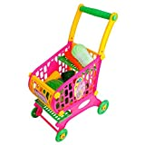 Mini Shopping Cart Supermarket Handcart Shopping Includes Play Food 10 Kinds Of Vegetables Utility Cart Mode Storage...